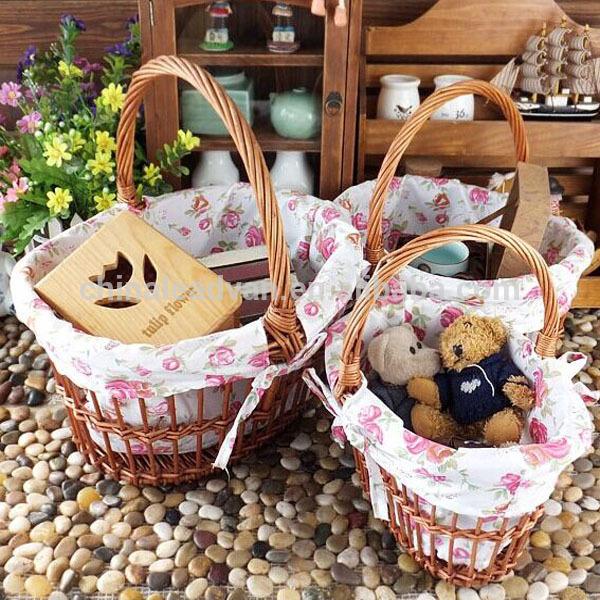丸い形の籐のバスケットペグおもちゃ-アンティーク、イミテーション工芸品問屋・仕入れ・卸・卸売り