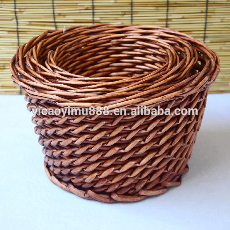 高品質で自然な手作りの籐のフルーツバスケットのストレージバスケット3- ピース-民芸品問屋・仕入れ・卸・卸売り