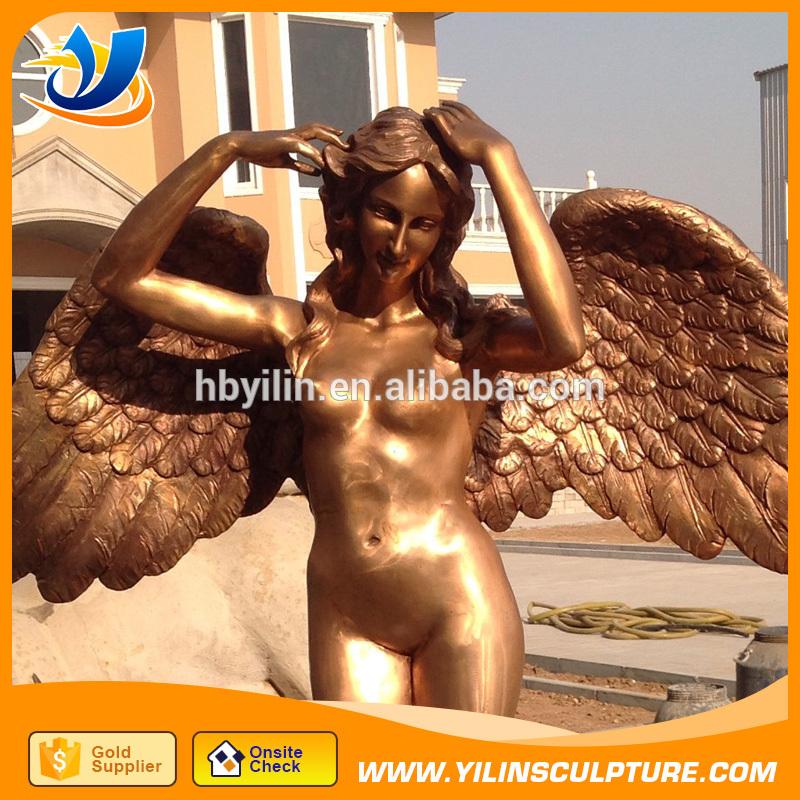 カスタマイズ作る ヨーロッパ スタイル熱い販売ブロンズ天使彫刻で翼-問屋・仕入れ・卸・卸売り