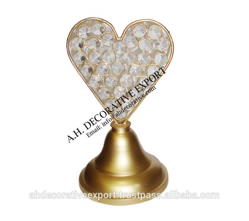 結婚式の場所カードホルダー、 水晶結婚式の名前カードホルダー-金属工芸品問屋・仕入れ・卸・卸売り