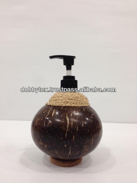 ヤシ殻シャンプー/soap瓶高品質タイから-ナチュラルクラフト問屋・仕入れ・卸・卸売り