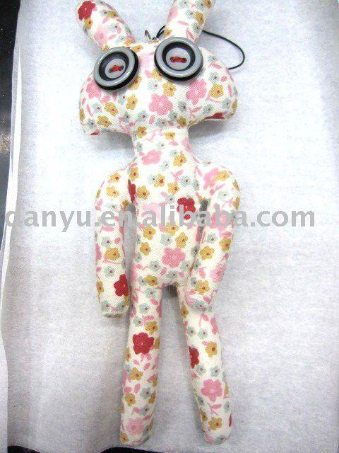 ファッションボタンの人形のキーチェーン、 携帯セルのストラップ-造花問屋・仕入れ・卸・卸売り