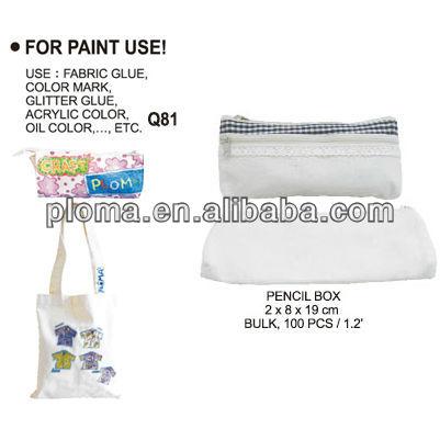 子供のための白い布の鉛筆ボックス-( q81) 鉛筆ボックス-織物と織物工芸問屋・仕入れ・卸・卸売り