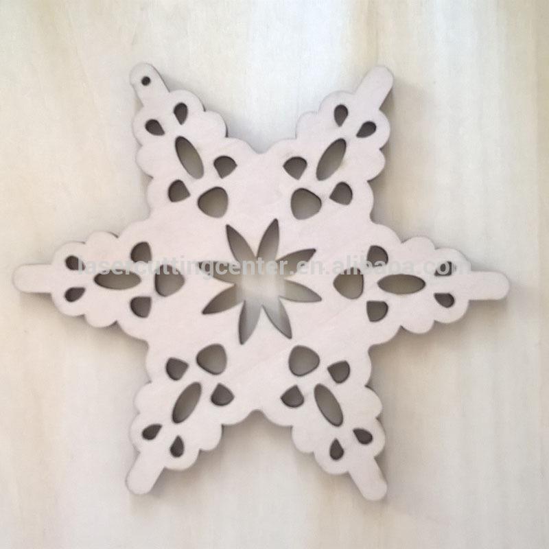 クリスマスツリーのオーナメントクリスマスの装飾用品雪花クラフトレーザーカット木材-木工芸品、ウッドクラフト問屋・仕入れ・卸・卸売り