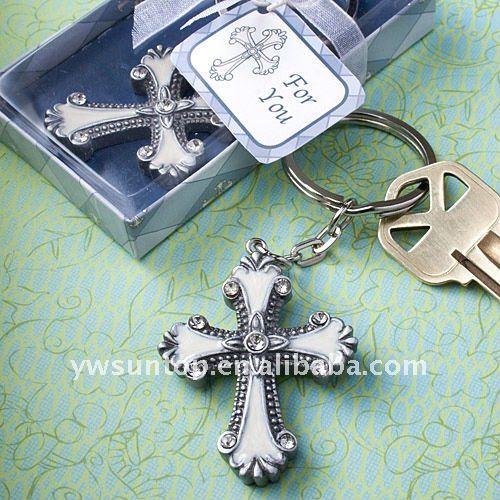 ファッションクロス設計のkeychainの好意は結婚式の装飾-キーチェーン問屋・仕入れ・卸・卸売り