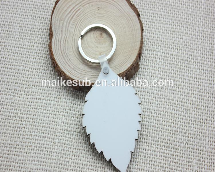 カスタム木材キーホルダー昇華印刷用の葉の形と-キーチェーン問屋・仕入れ・卸・卸売り