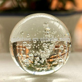 装飾k9品質100ミリメートルガラスバブルボール-クリスタル製品問屋・仕入れ・卸・卸売り