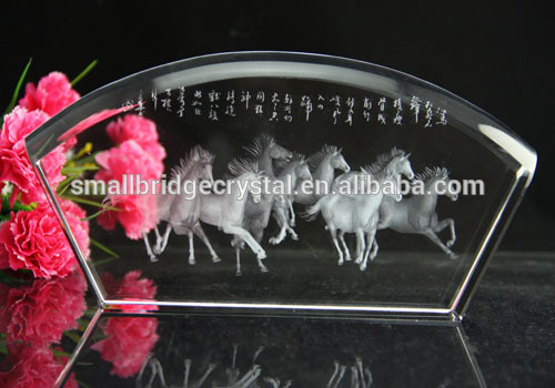 3dレーザー馬結晶ホーム装飾アイテム-記念品問屋・仕入れ・卸・卸売り
