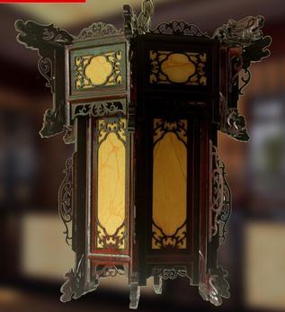 アンティーク中国木彫りランタンHF080-75-その他イベント、パーティー用品問屋・仕入れ・卸・卸売り