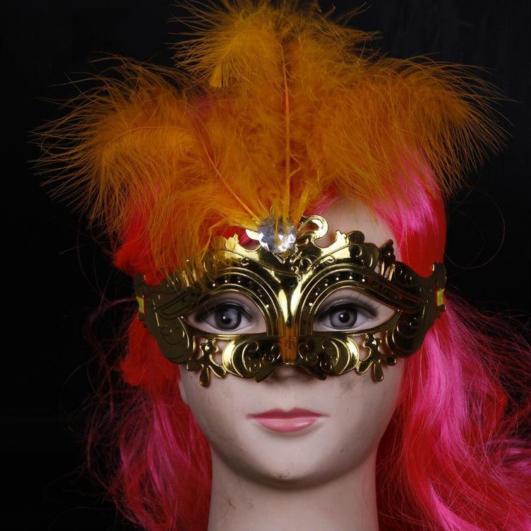 電気めっき2015顔マスク仮面舞踏会マスクカーニバルの羽-パーティーマスク、仮面問屋・仕入れ・卸・卸売り