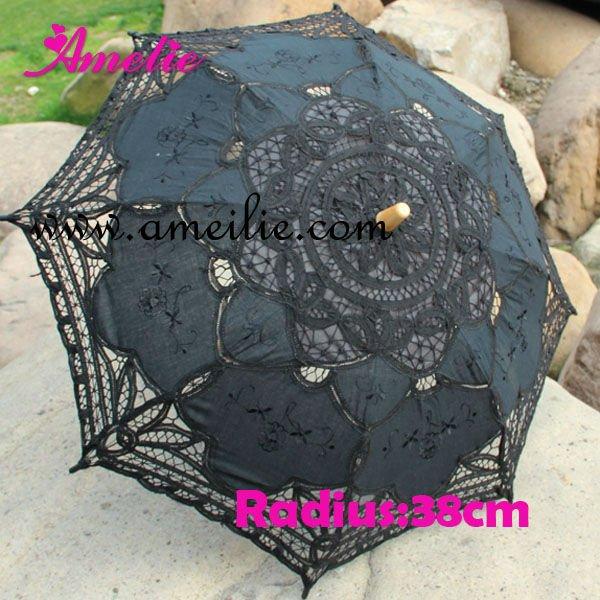小さな黒いレースの日傘a0134休日の装飾-その他イベント、パーティー用品問屋・仕入れ・卸・卸売り