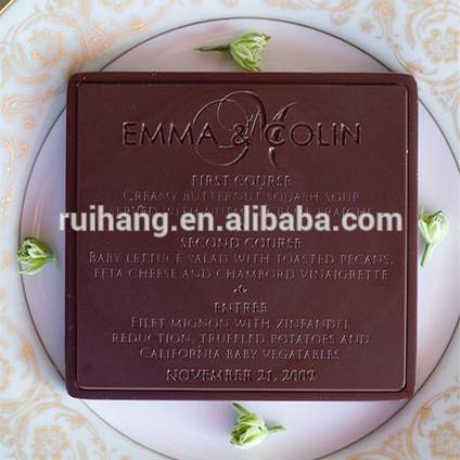 チョコレートの結婚式のためのカードメニュー-紙工芸品、ペーパークラフト問屋・仕入れ・卸・卸売り