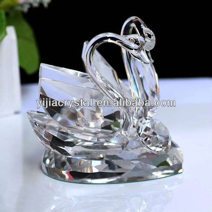 素晴らしく安く明確な水晶白鳥の結婚式のクリスマスのギフト-クリスタル製品問屋・仕入れ・卸・卸売り
