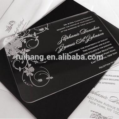 アクリルの招待で印刷および3dボックス結婚式の招待状のカード-紙工芸品、ペーパークラフト問屋・仕入れ・卸・卸売り