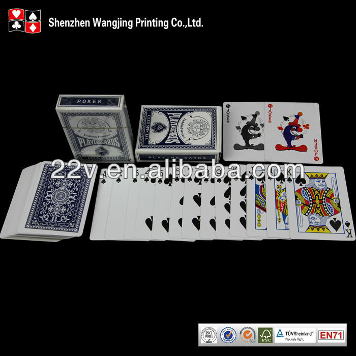 印刷工場供給プロフェッショナルカジノ紙ポーカー-トランプ類問屋・仕入れ・卸・卸売り