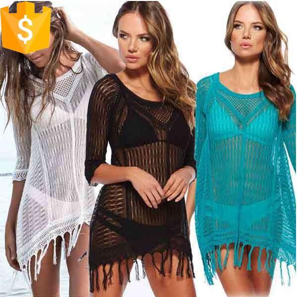 ヨーロッパスタイルフリンジデザイン女性夏ビキニカバーアップ-水着類問屋・仕入れ・卸・卸売り
