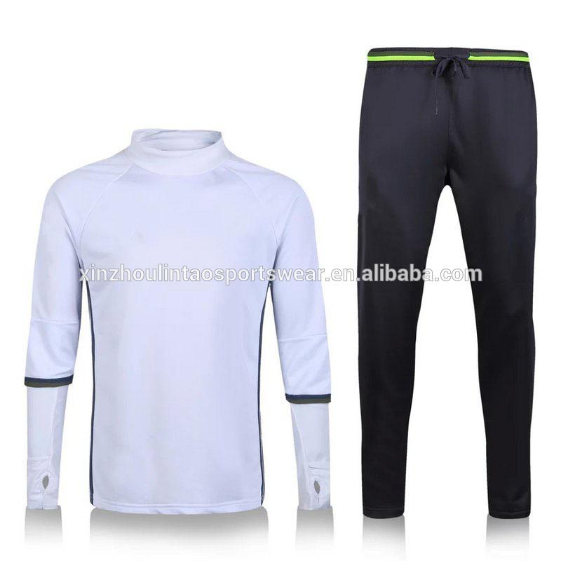 送料無料にドイツサッカーセータースーツ2016ヨーロッパサイズ白黒蛍光グリーンサッカートレーニングトラックスーツ-サッカーウェア問屋・仕入れ・卸・卸売り