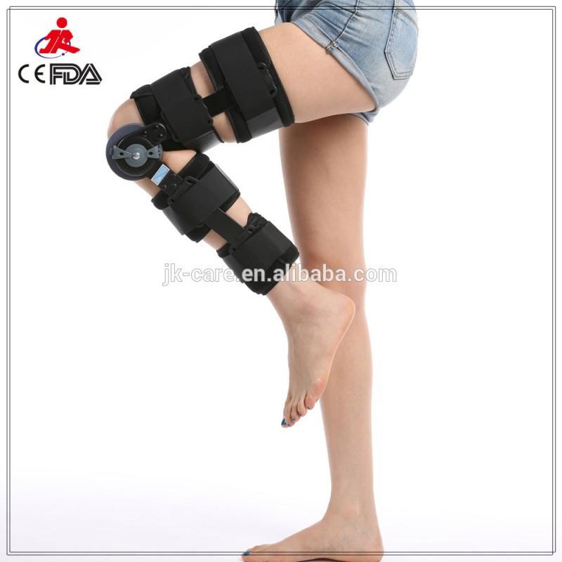 新しい調整可能なrom膝サポート2015ヒンジ調整可能な膝歩行装具安い価格で-ひじ・ひざ用サポーター問屋・仕入れ・卸・卸売り