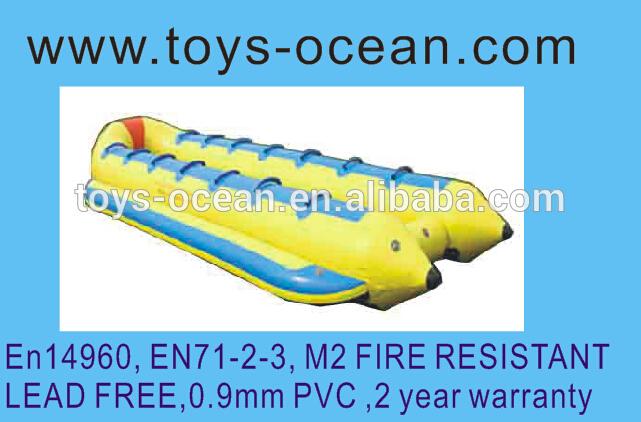 けん引可能な新しいインフレータブルバナナボート2015/トビウオのおもちゃ/フライングフィッシュ-水上遊具問屋・仕入れ・卸・卸売り