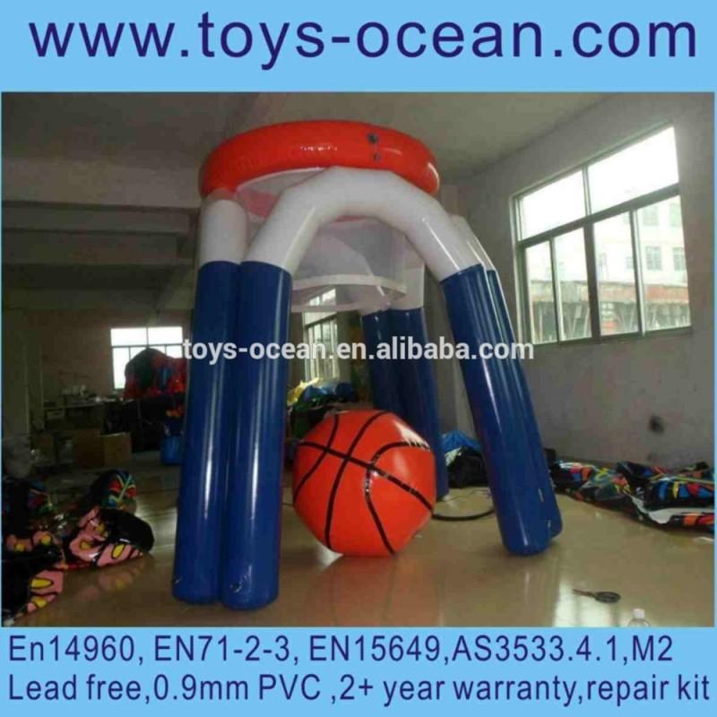 水ゲームインフレータブルバスケットボールフープ、 フローティングウォータースポーツゲーム、 湖空気で膨らます水ゲーム-水上遊具問屋・仕入れ・卸・卸売り