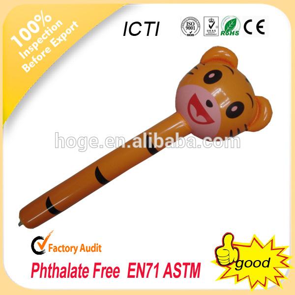 2014 ラブリー pvc インフレータブル スティック おもちゃ 、 インフレータブル動物スティック 、 クマ形状インフレータブル動物スティック の おもちゃ-応援グッズ問屋・仕入れ・卸・卸売り