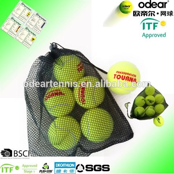 高品質45%ウールフェルト加圧テニスボールメッシュ袋に-テニスボール問屋・仕入れ・卸・卸売り