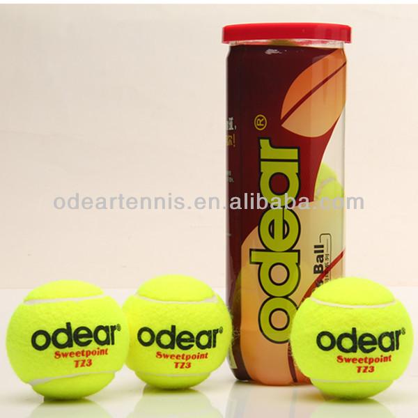 カスタムロゴ45%インポートされたウールタイプを感じた2軟式テニスボールによってprefessionalメーカー-テニスボール問屋・仕入れ・卸・卸売り