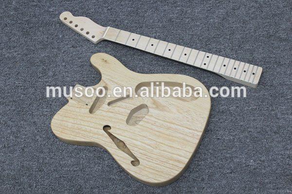 ブランド電動musootlギターキット半- 中空アッシュボディ( k51)-ギター問屋・仕入れ・卸・卸売り