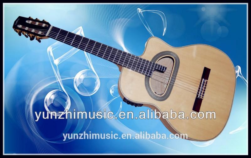 無垢のカエデの木ハンドメイドグラスファイバー壁のジプシーギターの音響-ギター問屋・仕入れ・卸・卸売り