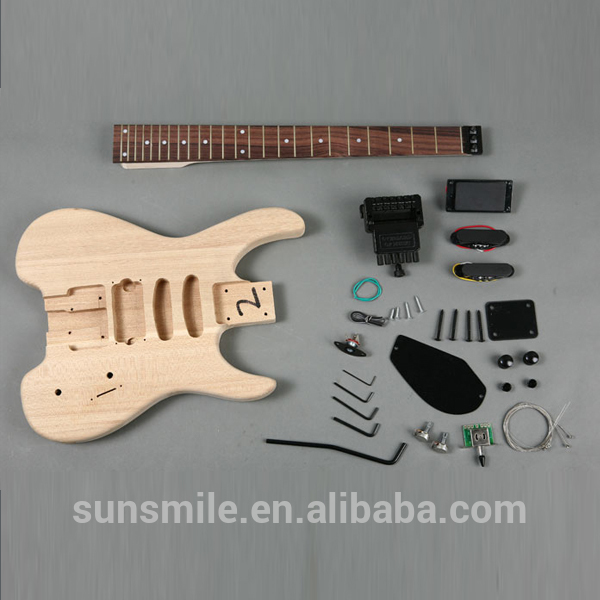 ヘッドレスとアッシュボディのエレキギターキットgk11shs-ギター問屋・仕入れ・卸・卸売り