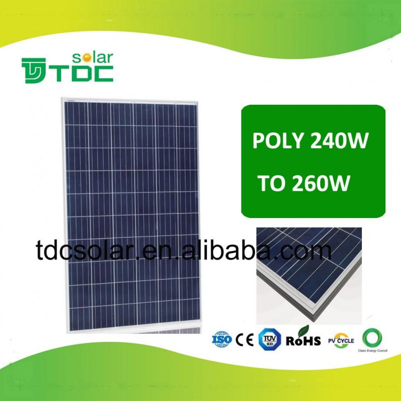 高品質ポリ太陽電池モジュール250ワット、255ワット、260ワットソーラーパネル-太陽電池、ソーラー・パネル問屋・仕入れ・卸・卸売り