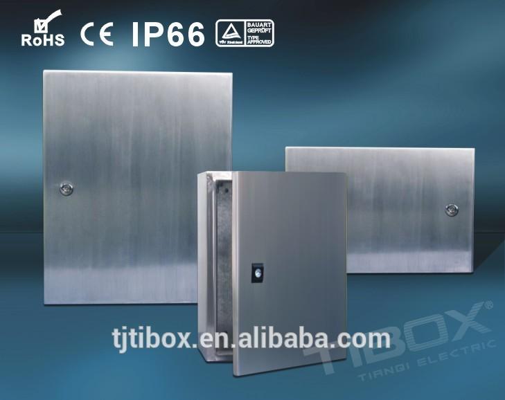 シングルドアaisi304防水エンクロージャステンレス鋼壁は電気の供給のための金属ハウジング-配電設備問屋・仕入れ・卸・卸売り