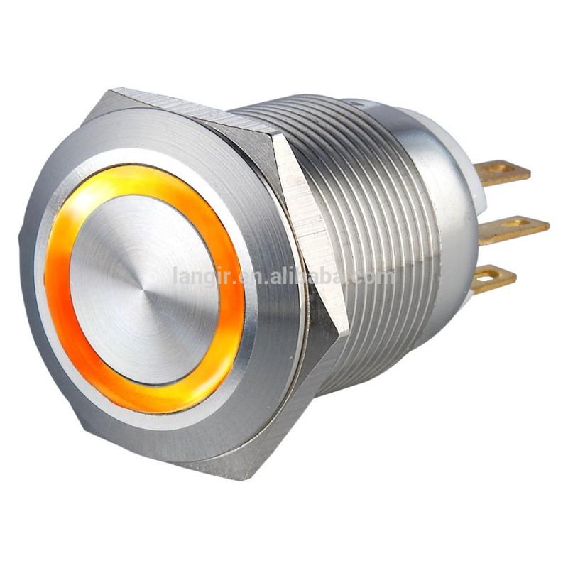 カラーステンレス製19mmオレンジnoncモーメンタリプッシュボタンスイッチ-押しボタンスイッチ問屋・仕入れ・卸・卸売り