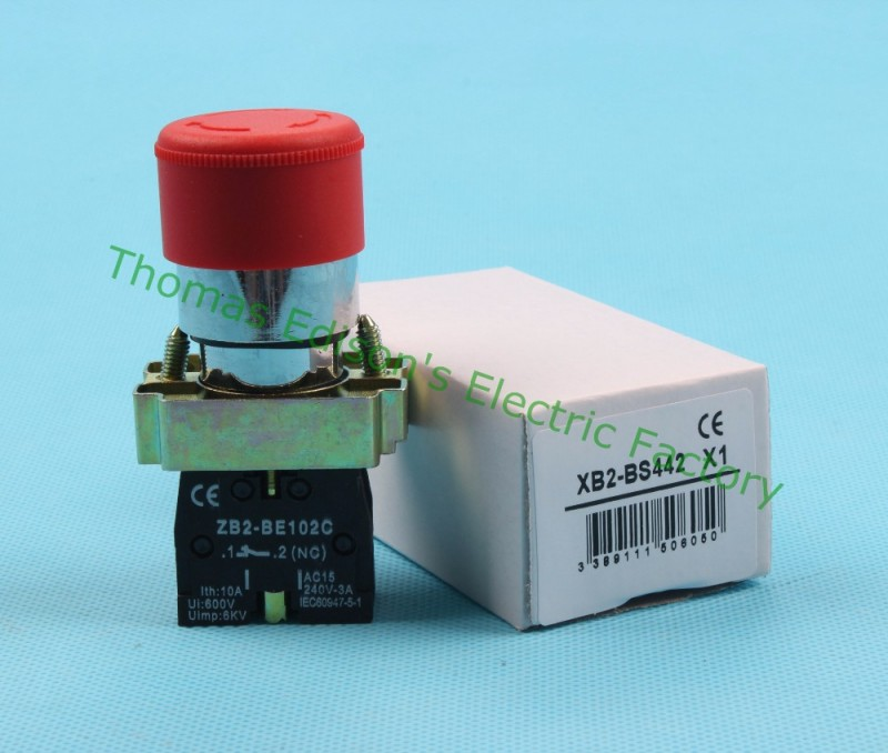 Xb2 BS442 XB2-bs442 ターン リセット非常停止押し ボタン スイッチ-押しボタンスイッチ問屋・仕入れ・卸・卸売り