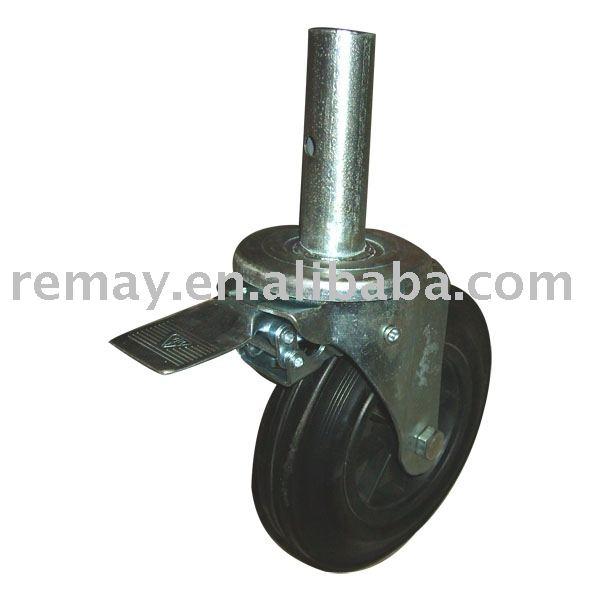 ブレーキSC0811が付いている足場の足車の車輪-業務用ブレーキ問屋・仕入れ・卸・卸売り