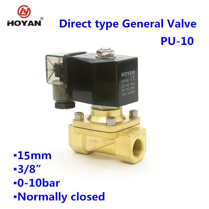 PU-10人気真鍮ノーマルクローズ一般電磁valve3/8インチ、nbrシール-バルブ問屋・仕入れ・卸・卸売り
