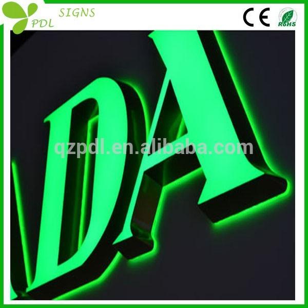 ミニカラフルな印象アクリル看板ledチャンネル文字-デジタルディスプレイ、ネオンサイン、電光掲示板問屋・仕入れ・卸・卸売り