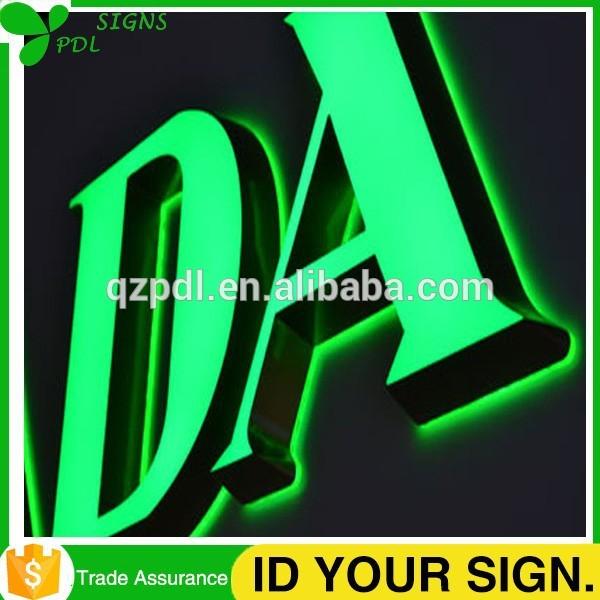 防水3dフロント点灯とバックライト付き金属チャンネル文字-デジタルディスプレイ、ネオンサイン、電光掲示板問屋・仕入れ・卸・卸売り