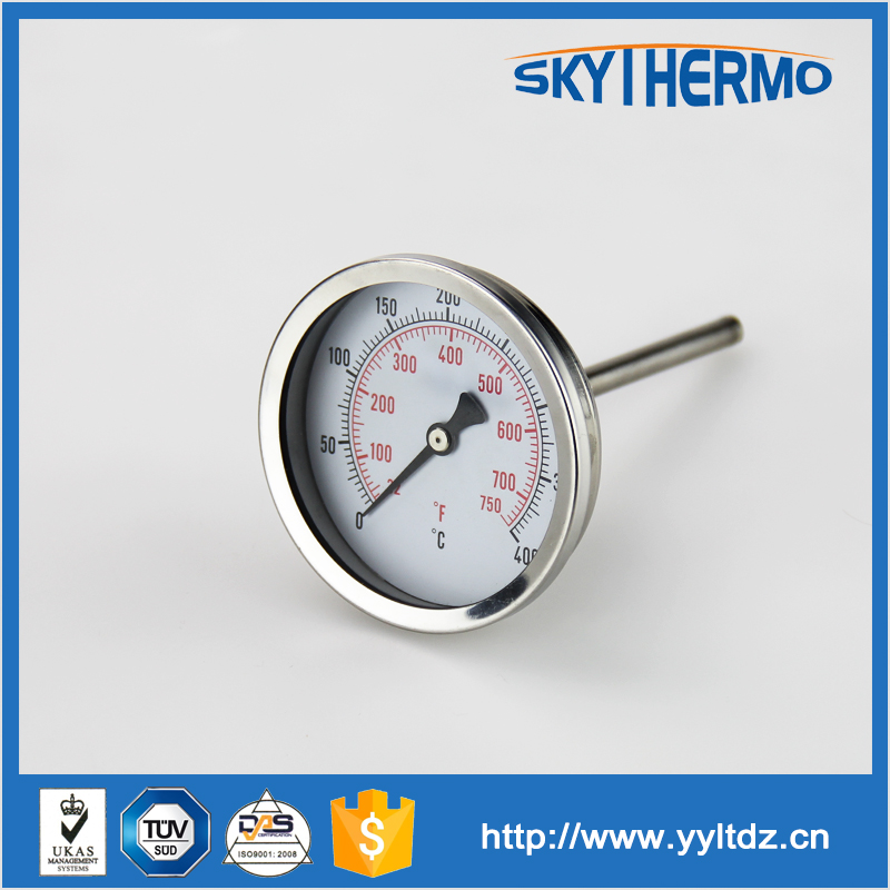 高温産業バイメタル温度計プローブタイプのピザオーブン-温度計問屋・仕入れ・卸・卸売り