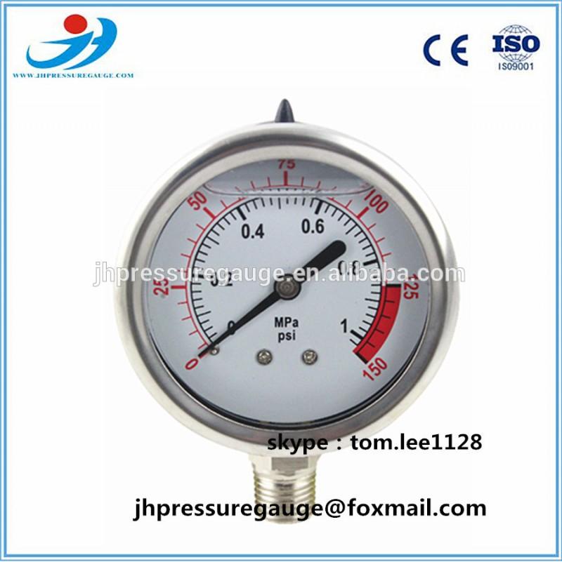 Y60-QG262 すべて ステンレス鋼底タイプ油圧圧力試験ゲージ で ce-圧力計問屋・仕入れ・卸・卸売り
