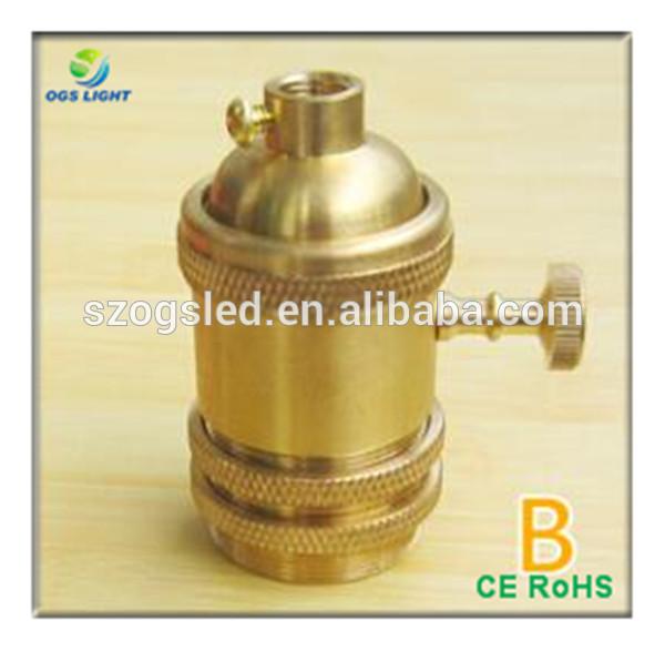 アンティーク真鍮のランプホルダー付e27ロータリースイッチ-ランプホルダー、ベース問屋・仕入れ・卸・卸売り
