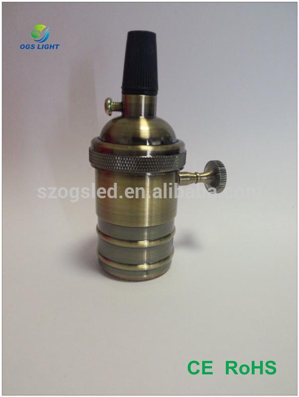 E26 e27 ヴィンテージ スタイル真鍮ランプ ホルダー付スイッチ-問屋・仕入れ・卸・卸売り