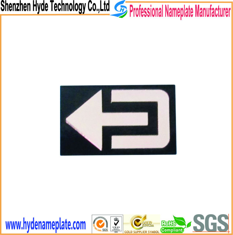 カスタムメタルステッカーセキュリティ用の安全記号-信号機問屋・仕入れ・卸・卸売り