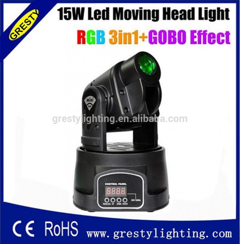 スポットled 15ワット可動ヨーク超さわやかな光学系プロフェッショナルdj照明9御坊rgb 3in1のビーム効果-移動ヘッドライト問屋・仕入れ・卸・卸売り