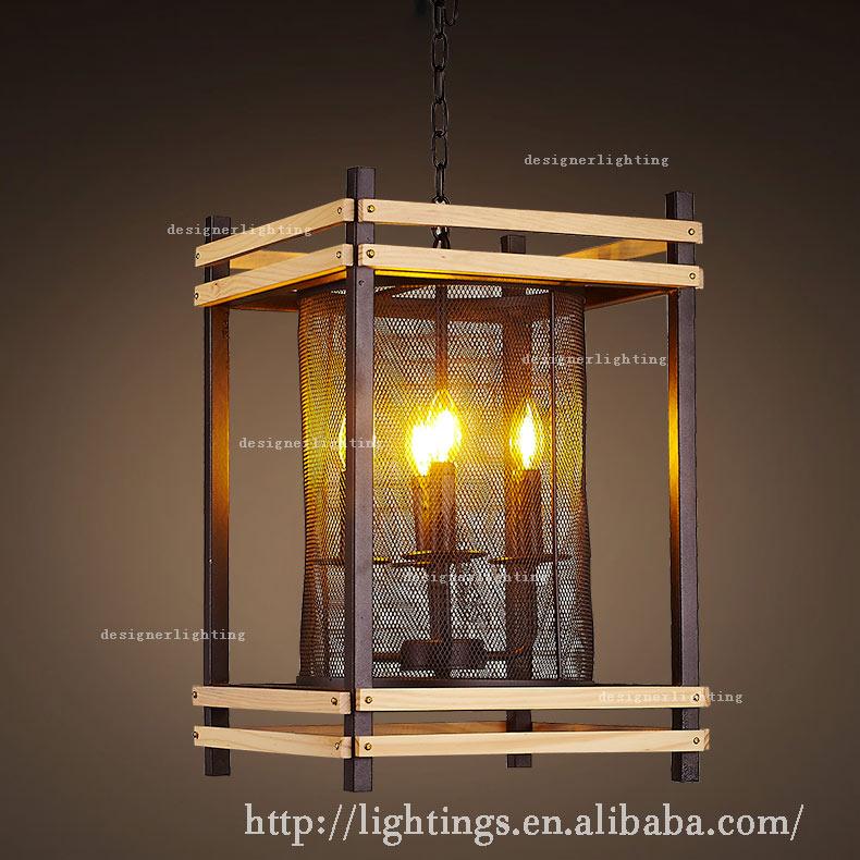 現代ケージキャンドルシャンデリアウッドライト鉄ペンダントライトヴィンテージlampframe木製シャンデリア-シャンデリア、ペンダントライト問屋・仕入れ・卸・卸売り