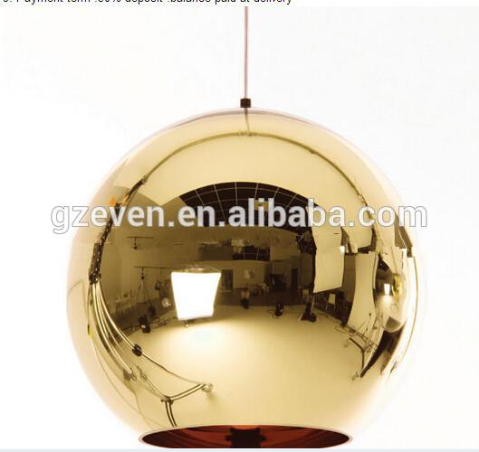 モダンクラシックなファッション径20cmトムディクソン銅ボールランプガラスミラーシェードのペンダント照明器具ダイニングルームベッドルーム-シャンデリア、ペンダントライト問屋・仕入れ・卸・卸売り