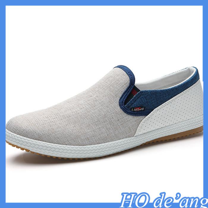 新しいキャンバス靴の簡単な韓国hogiftaペダルmho-63怠惰な紳士靴卸売-カジュアルシューズ問屋・仕入れ・卸・卸売り