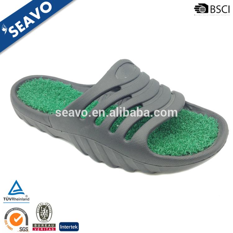 Seavo 2016新しいモデルプラスチックグリーン芝生インソールデザインクール軽量男性evaスリッパ-クロックス問屋・仕入れ・卸・卸売り