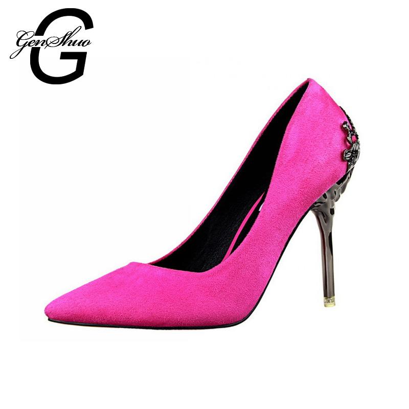 女性パンプスハイヒール2016ファッション尖ったつま先女性靴薄いかかとpumps10cmハイヒール赤い靴女性-サンダル問屋・仕入れ・卸・卸売り