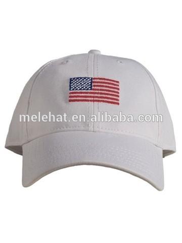 カスタム洗浄綿白の野球帽継手キャップ帽子針の高品質を備えたスポーツキャップ米国旗の刺繍-マフラー、帽子、手袋セット問屋・仕入れ・卸・卸売り